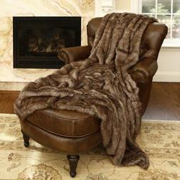 Best Home Fashion Faux Fur Throw - Full Blanket - Coyote - 5
