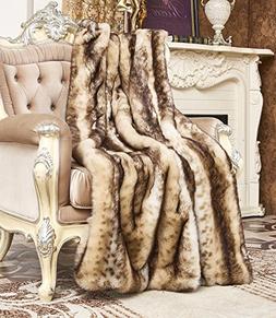 Lindsey Home Fashion Faux Fur Throw, Fur Blankets Super Soft