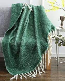 SLPR Faux Mohair Wool Blend Throw  | Washable Warm Soft Fuzz