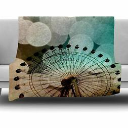 East Urban Home Ferris Wheel Silhouette by Sylvia Coomes Fle