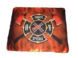 Fire Department Fighter Axes 50x60 Polar Fleece Blanket Thro