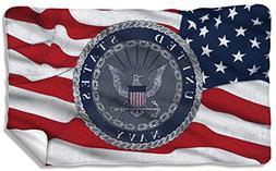 Navy - Flag Seal Fleece Blanket 57 x 35in