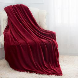 Moonen Flannel Throw Blanket Luxurious Twin Size Lightweight