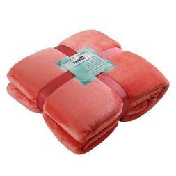 HYSEAS Flannel Fleece Bed Blanket - Cozy Plush Fuzzy Throw B