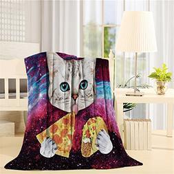 Flannel Fleece Blanket Lightweight Cozy Bed Sofa Blankets Su