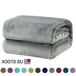 Flannel Fleece Blanket Plush Blanket Throw Bed Blanket Sofa