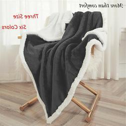 Flannel Fleece Blanket Plush Blanket Throw Twin Queen Bed Ru