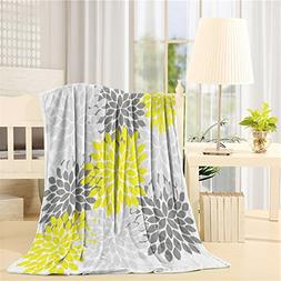 SUN-Shine Flannel Fleece Luxury Blanket Home Multicolor Dahl