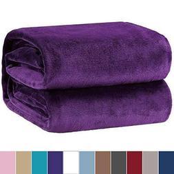 Bedsure Flannel Fleece Luxury Throw Blanket Lightweight Cozy