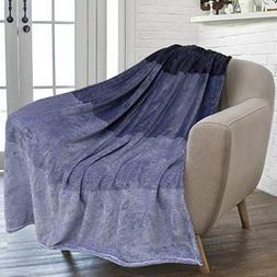 PAVILIA Flannel Fleece Luxury Throw Blanket   Lightweight So
