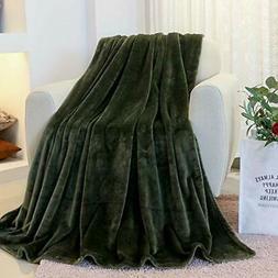 Flannel Fleece Luxury Throw, Lightweight Cozy Microfiber Sol