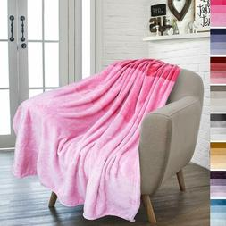 Pavilia Flannel Fleece Ombre Throw Blanket For Couch | Super