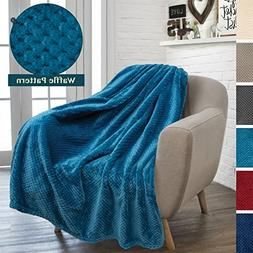 PAVILIA Premium Flannel Fleece Throw Blanket for Sofa Couch