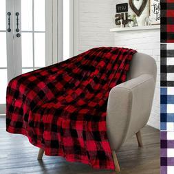 PAVILIA Flannel Fleece Throw Blanket for Sofa Couch