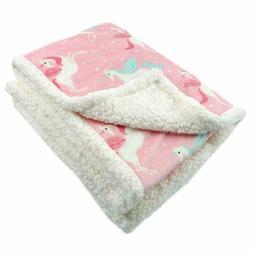 BORITAR Flannel Fleece Throw Blanket Sherpa Plush Soft Bed B