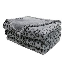 FY FIBER HOUSE Flannel Fleece Throw Microfiber Blanket with