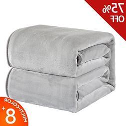 RISAR Flannel Luxury Blanket Soft Warm Cozy Plush Throw Ligh