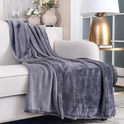 """SOCHOW Flannel Plush Throw Blanket 55"""" × 71"""",All Season Dar"""