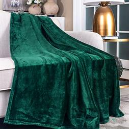 "SOCHOW Flannel Plush Throw Blanket 55"" × 71"",All Season Gre"