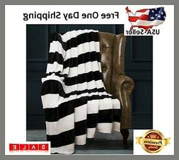 NTBAY Flannel Throw Blankets Super Soft with Black and White