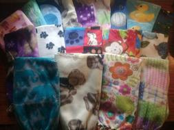 Handmade Fleece Baby Blankets Nursery Throw Made with Love U