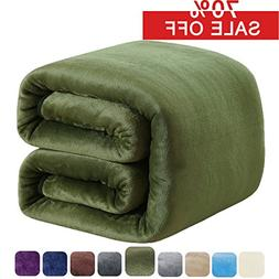 SOFTCARE Fleece Blanket King Size 350GSM Throw Blanket Super