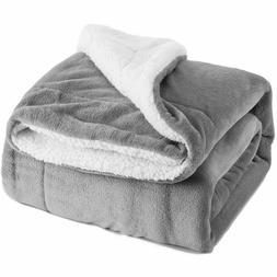 Bedsure  Fleece Blanket Bed Throw Soft & Cozy Gray 50 x 60  