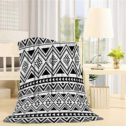 Fleece Blanket Art Illustration Of Style Navajo Pattern Azte