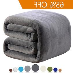 Richave Fleece Blanket King Size 350GSM Lightweight Throw fo