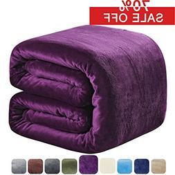 SOFTCARE Fleece Blanket Queen Size 350GSM Throw Blanket Supe