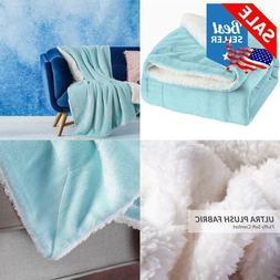 Bedsure Fleece Blanket Sherpa Throw Size 50X60 Bed Blanket T
