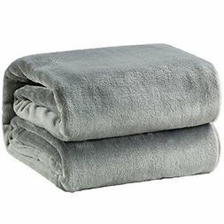 Bedsure Fleece Blanket Throw Size Grey Lightweight Super  Gr