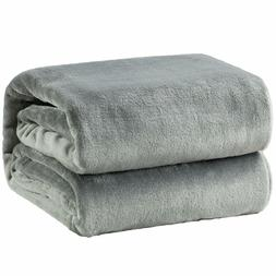 Bedsure Fleece Blanket Throw Size Grey Lightweight Super Sof