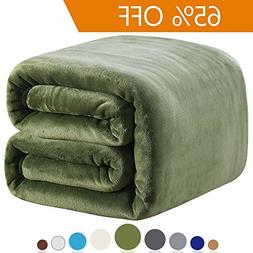 Richave Fleece Blanket Twin Size 350GSM Lightweight Throw fo