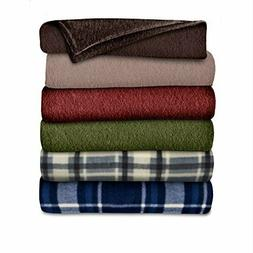 Sunbeam Heated Throw Blanket   Fleece, 3 Heat Settings, Asso