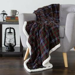 Lavish Home - Fleece Sherpa Blanket / Throw