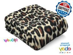 Fleece Throw 50x60 Inches Blanket Leopard Cheetah Design Bro