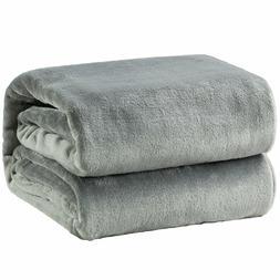 Fleece Throw Blanket Body Grey Warm Cozy Soft Microfiber Bed