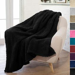Fuzzy Soft Fleece Throw Blanket for Couch Sofa Bed Chair Mic