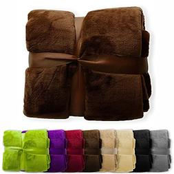casa pura Fleece Throw Blanket | Plush Blanket Throw for Cou