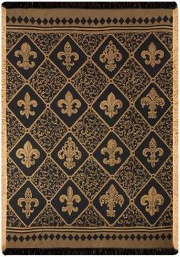 Manual Woodworkers & Weavers Fleur-de-lis Damask Throw