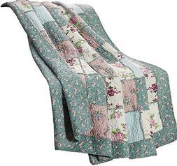 1pc Floral Garden Patchwork Vintage Washed 100% Cotton Rever