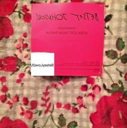 Betsey Johnson Floral Gingham Throw Blanket Red Roses Pink O