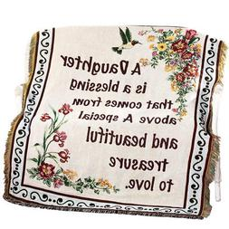 Floral Treasure Blessings Throw Blanket, by Collections Etc