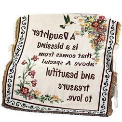 Floral Treasure Blessings Throw Blanket