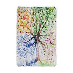 ALAZA Four Seasons Tree Blanket Luxury Throw Personalized St