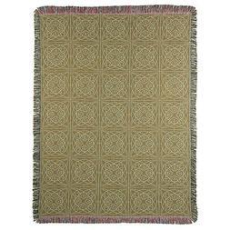 Frank Lloyd Wright Throw Blanket Luxfer Prism Pattern Jacqua
