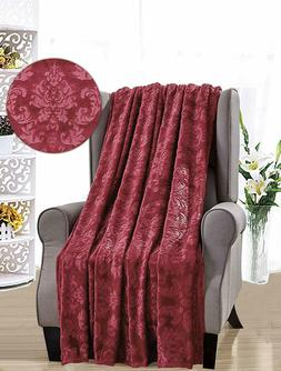 French Collection Luxurious Soft Throw Blanket Cover Embosse