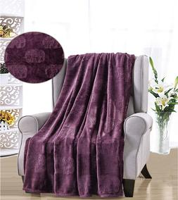 French Collection Luxurious™ Soft Throw Blanket Cover Embo