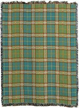 Pure Country Weavers Freshwater Plaid Blanket Tapestry Throw